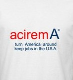 aciremA t-shirts /tee shirt are for sale at aciremA.com. Each is 100% cotton and  made in the usa.
