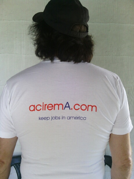 aciremA.com tee shirts are 100% made in the U.S.A. or made in America